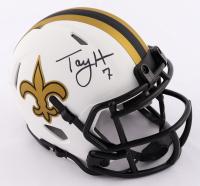 Taysom Hill Signed Saints Lunar Eclipse Alternate Speed Mini Helmet (Beckett COA) at PristineAuction.com