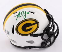 Aaron Jones Signed Packers Lunar Eclipse Alternate Speed Mini Helmet (Beckett Hologram) at PristineAuction.com