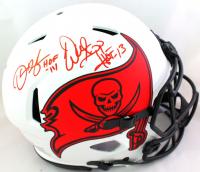 "Derrick Brooks & Warren Sapp Signed Buccaneers Full-Size Authentic On-Field Lunar Eclipse Alternate Speed Helmet Inscribed ""HOF 14"" & ""HOF 13"" (Beckett Hologram) at PristineAuction.com"