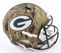 Jordy Nelson Signed Packers Full-Size Camo Alternate Speed Helmet (Beckett Hologram) at PristineAuction.com