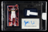 Zion Williamson 2019-20 Panini One and One Premium Rookie Jersey Autographs Blue #17 #40/49 at PristineAuction.com