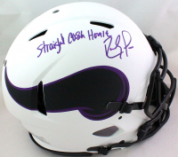 """Randy Moss Signed Vikings Full-Size Authentic On-Field Lunar Eclipse Alternate Speed Helmet Inscribed """"Straight Cash Homie"""" (Beckett Hologram) at PristineAuction.com"""