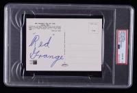 Red Grange Signed Hall of Fame Postcard (PSA Encapsulated) at PristineAuction.com