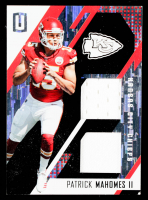 Patrick Mahomes II 2017 Panini Unparalleled Rookie Stitches Dual Jerseys #3 #003/199 at PristineAuction.com