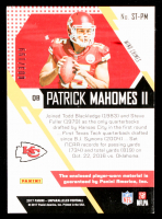 Patrick Mahomes II 2017 Panini Unparalleled Rookie Stitches Dual Jerseys #3 #3/199 at PristineAuction.com