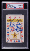 """Nolan Ryan Signed 1978 MLB All-Star Game Ticket Inscribed """"8x All-Star"""" (PSA Encapsulated) at PristineAuction.com"""