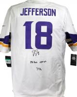 "Justin Jefferson Signed Vikings Jersey Inscribed ""88 Recs"", ""1400 Yds"" & ""7 TDs"" (Beckett Hologram) at PristineAuction.com"