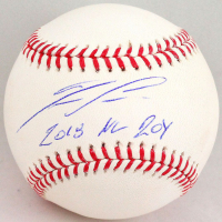 "Ronald Acuna Jr. Signed OML Baseball Inscribed ""2018 NL ROY"" (Beckett Hologram) at PristineAuction.com"