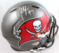 """John Lynch Signed Buccaneers Full-Size Authentic On-Field Speed Helmet Inscribed """"HOF 21"""" (Beckett Hologram) at PristineAuction.com"""