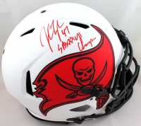 """John Lynch Signed Buccaneers Full-Size Authentic On-Field Lunar Eclipse Alternate Speed Helmet Inscribed """"SB XXXII Champs"""" (Beckett Hologram) at PristineAuction.com"""