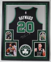 Gordon Hayward Signed 34x42 Custom Framed Jersey Display (Fanatics Hologram) at PristineAuction.com