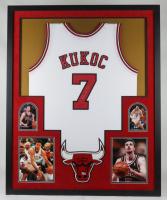 Toni Kukoc Signed 34x42 Custom Framed Jersey Display (Beckett COA) at PristineAuction.com