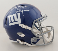 "Lawrence Taylor Signed Giants Full-Size Speed Helmet Inscribed ""LT is a Bad Motherf*****"" (JSA COA) at PristineAuction.com"