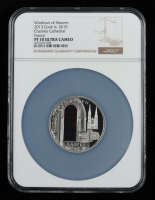 Cook Islands 2013 Silver $10 Windows of Heaven - Chartres Cathedral France (NGC PF70 Ultra Cameo) at PristineAuction.com