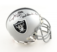 Raiders Mini Helmet Signed by (3) with Marcus Allen, Jim Otto, & Ted Hendricks (JSA COA) at PristineAuction.com