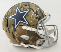 CeeDee Lamb Signed Cowboys Full-Size Camo Alternate Speed Helmet (Fanatics Hologram) (See Description) at PristineAuction.com