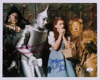 """""""The Wizard of Oz"""" 10.75x13.75 Photo Cast-Signed by (4) with Mickey Carroll, Jerry Maren, Karl Slover, & Donna Stewart Hardaway with (3) Character Inscriptions (JSA COA) at PristineAuction.com"""