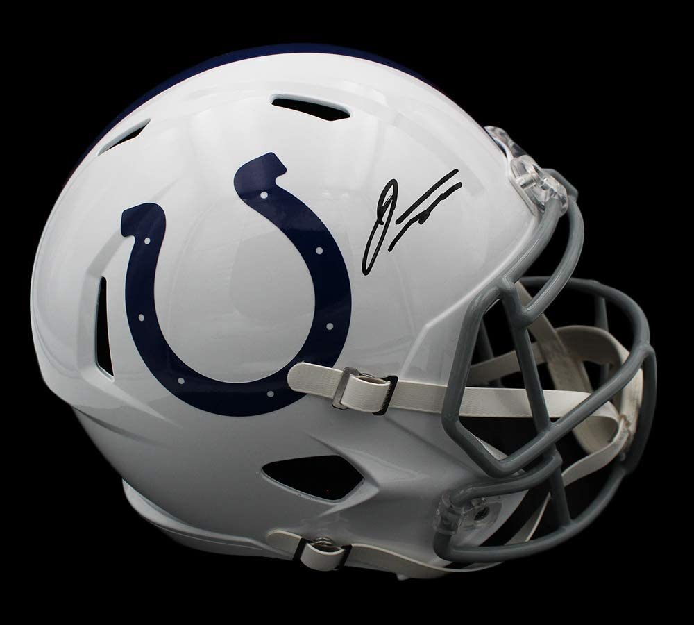 Jonathan Taylor Signed Colts Full-Size Speed Helmet (Fanatics Hologram) at PristineAuction.com