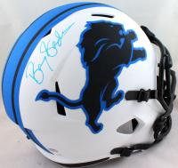 Barry Sanders Signed Lions Full-Size Lunar Eclipse Alternate Speed Helmet (JSA COA & Schwartz Hologram) at PristineAuction.com