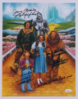 """""""The Wizard of Oz"""" 11x14 Photo Cast-Signed by (4) with Donna Stewart Hardaway, Jerry Maren, Mickey Carroll, & Karl Slover with Multiple Inscriptions (JSA COA) at PristineAuction.com"""
