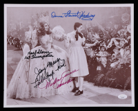"""""""The Wizard of Oz"""" 11x14 Photo Cast-Signed by (4) with Mickey Carroll, Margaret Pellegrini, Karl Slover, Donna Stewart Hardaway (JSA COA) at PristineAuction.com"""
