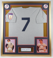 Mickey Mantle Signed 32x36 Custom Framed Cut Display (JSA LOA) at PristineAuction.com