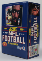 Set of (20) 1991 Score Series 2 Football Trading Card Box at PristineAuction.com