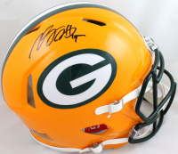 Davante Adams Signed Packers Full-Size Authentic On-Field Speed Helmet (Beckett Hologram) at PristineAuction.com