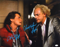 "Michael J. Fox & Christopher Lloyd Signed ""Back to the Future"" 16x20 Photo (JSA Hologram) at PristineAuction.com"