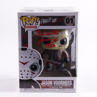 """Ted White Signed """"Friday the 13th"""" #01 Jason Voorhees Funko Pop! Vinyl Figure Inscribed """"Jason 4"""" (PSA COA & JSA COA) (See Description) at PristineAuction.com"""