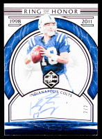 Peyton Manning 2020 Limited Ring of Honor Autographs Amethyst Spotlight #2 #2/2 at PristineAuction.com