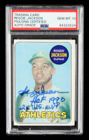 "Reggie Jackson Signed 1969 Topps #260 RC Inscribed ""HOF 1993"" & ""2x W.S. MVP"" (PSA Encapsulated) at PristineAuction.com"