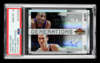 Jerry West Signed 2009-10 Panini Threads Generations Century Proof #1 #21/100 with Kobe Bryant (PSA Encapsulated) at PristineAuction.com