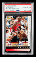 Jerry West Signed 1992-93 Upper Deck Michael Jordan Selects #JW4 (PSA Encapsulated) at PristineAuction.com