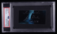 "John Wooden Signed 2x3.5 Cut Inscribed ""UCLA"" & ""Best Wishes"" (PSA Encapsulated) at PristineAuction.com"