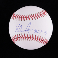 "Nolan Ryan Signed OML Baseball Inscribed ""H.O.F. '99"" (AIV Hologram & Ryan Hologram) at PristineAuction.com"