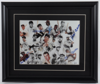 "Vintage ""500 Home Run Club"" 13x16 Custom Framed Print Display Signed by (4) with Mickey Mantle, Hank Aaron, Frank Robinson & Ralph Kiner (JSA LOA) at PristineAuction.com"