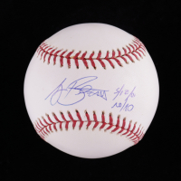 "A. J. Burnett Signed OML Baseball Inscribed ""5/12/01 No/No"" (Stacks of Plaques Hologram) at PristineAuction.com"