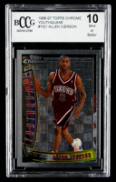Allen Iverson 1996-97 Topps Chrome Youthquake #YQ1 (BCCG 10) at PristineAuction.com