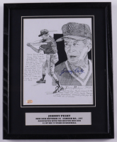 Johnny Pesky Signed Red Sox 12x15 Custom Framed Print Display (Stacks of Plaques COA) (See Description) at PristineAuction.com