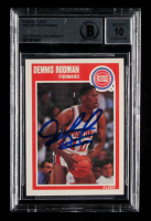 Dennis Rodman Signed 1989-90 Fleer #49 (BGS Encapsulated) at PristineAuction.com