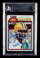 "James Lofton Signed 1979 Topps #310 RC Inscribed ""HOF 03"" & ""2020"" (BGS Encapsulated) at PristineAuction.com"