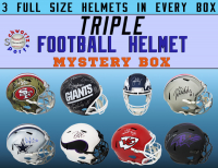 Schwartz Sports TRIPLE Full Size Football Helmet Mystery Box – Series 4 (Limited to 75) (3 Autographed Helmets In EVERY BOX!!!) at PristineAuction.com