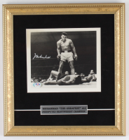 Muhammad Ali Signed LE 12x13 Custom Framed Photo Display (PSA LOA) at PristineAuction.com