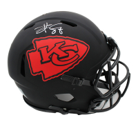 Travis Kelce Signed Chiefs Full-Size Authentic On-Field Eclipse Alternate Speed Helmet (Radtke COA) at PristineAuction.com