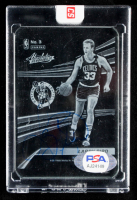 Larry Bird Signed 2017-18 Absolute Memorabilia Glass #3 (PSA COA) at PristineAuction.com