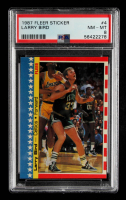 Larry Bird 1987-88 Fleer Stickers #4 (PSA 8) at PristineAuction.com