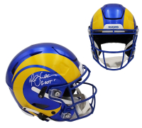 """Marshall Faulk Signed Rams Full-Size Authentic On-Field SpeedFlex Helmet Inscribed """"GSOT"""" (Radtke COA) at PristineAuction.com"""