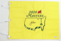 Jack Nicklaus Signed 2020 Masters Tournament Pin Flag (Beckett LOA) at PristineAuction.com