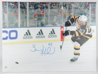 Brad Marchand Signed Bruins 30x40 Print On Canvas (YSMS COA) at PristineAuction.com